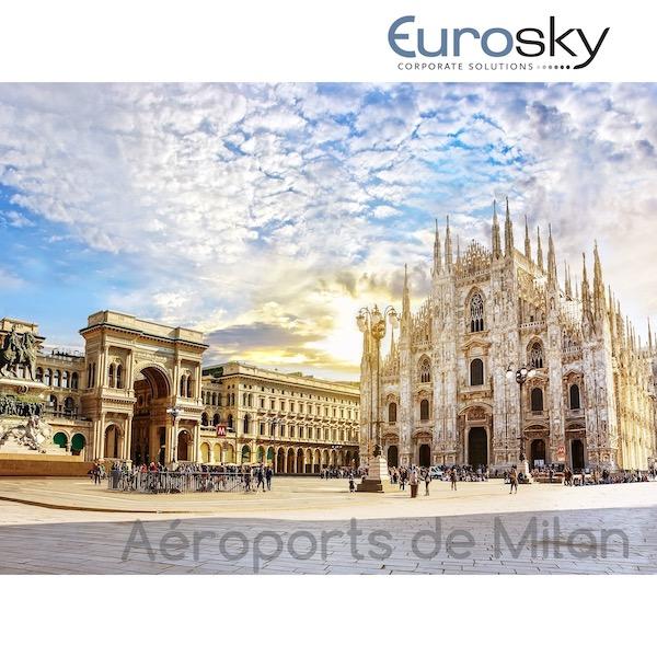 Milan en avion privé