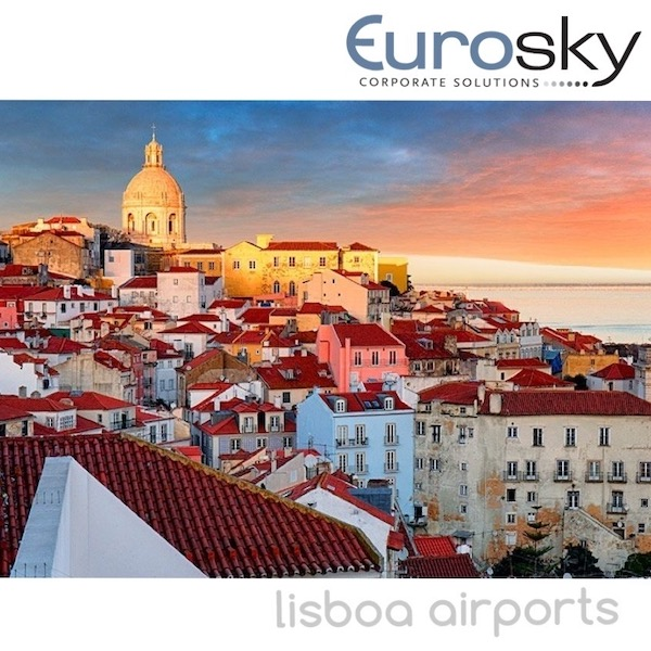 Private jet rental to Lisboa with Eurosky