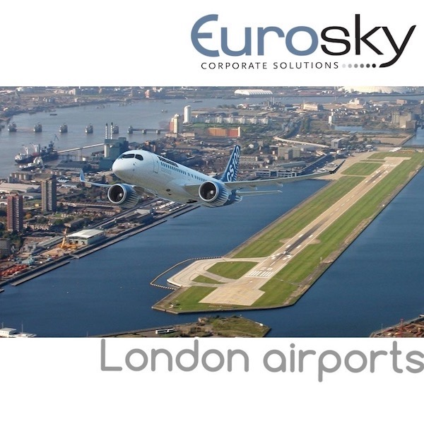 Hire a private jet to London airports